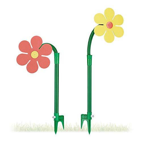 Relaxdays Sprinkler Blume, Kinder, 2er...