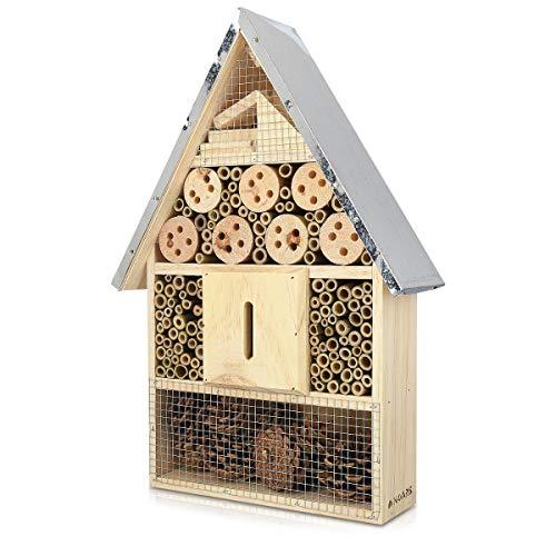 Navaris Insektenhotel aus Holz -...