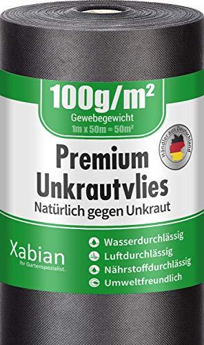 Xabian Anti Unkrautvlies 100g/m²...