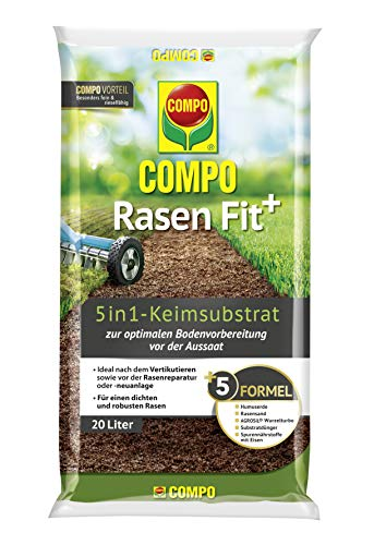Compo Rasen Fit+, 5 in 1 Keimsubstrat,...