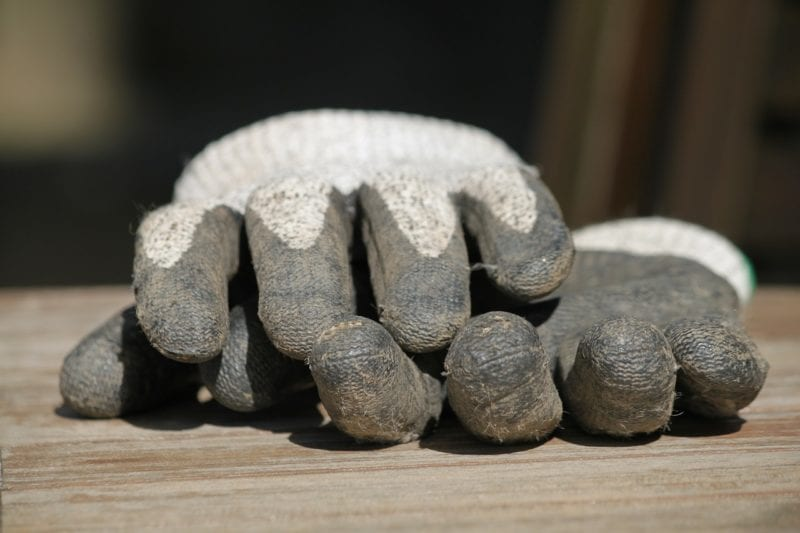 Wühlmausfalle - Handschuhe