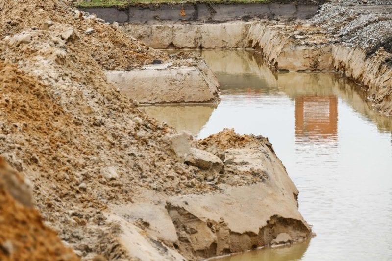 Schmutzwasserpumpe - Baugrube