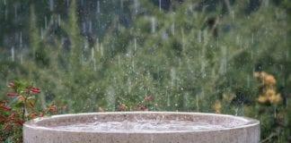 Wetterstation mit Regenmesser